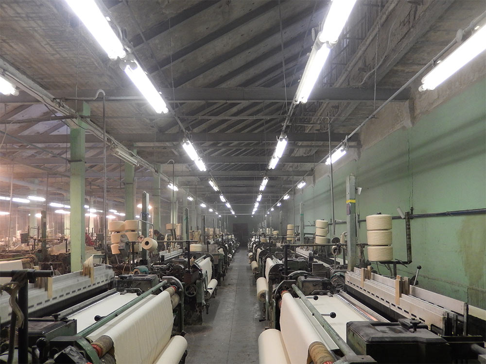 air humidification in a textile factory